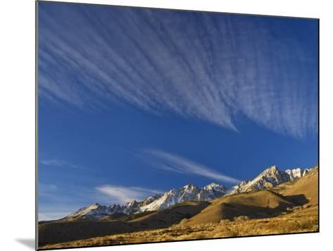 Cirrus Clouds over Eastern Sierra Nevada in Winter Seen from Buttermilk Road Near Bishop-Witold Skrypczak-Mounted Photographic Print