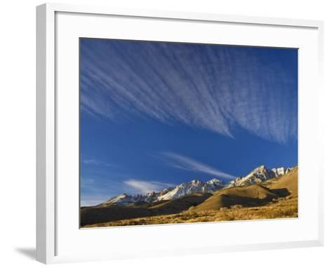 Cirrus Clouds over Eastern Sierra Nevada in Winter Seen from Buttermilk Road Near Bishop-Witold Skrypczak-Framed Art Print