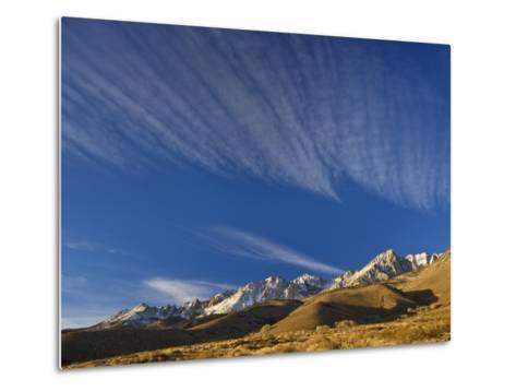 Cirrus Clouds over Eastern Sierra Nevada in Winter Seen from Buttermilk Road Near Bishop-Witold Skrypczak-Metal Print
