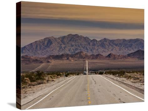 Route 66 Near Chambless with Marble Mountains in Distance, Mojave Desert-Witold Skrypczak-Stretched Canvas Print