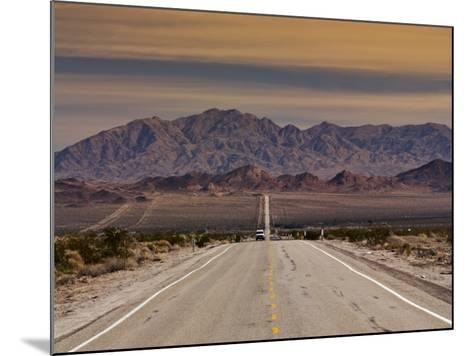 Route 66 Near Chambless with Marble Mountains in Distance, Mojave Desert-Witold Skrypczak-Mounted Photographic Print