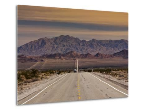 Route 66 Near Chambless with Marble Mountains in Distance, Mojave Desert-Witold Skrypczak-Metal Print