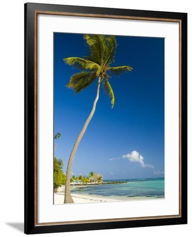 Beach at Punta Cana-Veronica Garbutt-Framed Art Print
