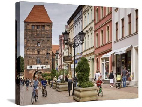Medieval Czluchow Gate Seen from Pedestrianized 31 Stycznia Street-Witold Skrypczak-Stretched Canvas Print