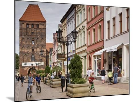 Medieval Czluchow Gate Seen from Pedestrianized 31 Stycznia Street-Witold Skrypczak-Mounted Photographic Print