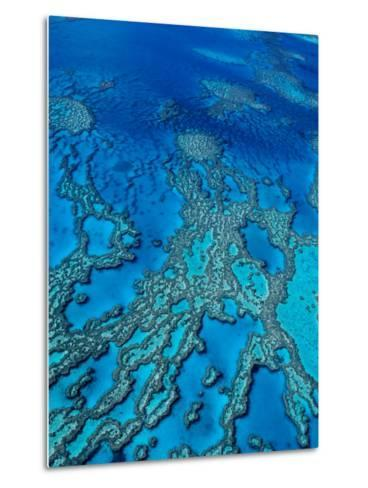 Aerial of Hardy Reef Offshore from Whitsundays Islands-Philip Game-Metal Print