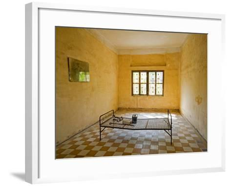 Former Prison Cell for Khmer Rouge Victims Captured and Tortured at Security Prison S-21-Rachel Lewis-Framed Art Print