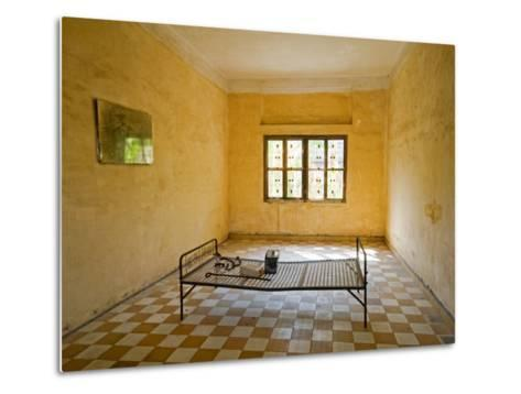Former Prison Cell for Khmer Rouge Victims Captured and Tortured at Security Prison S-21-Rachel Lewis-Metal Print