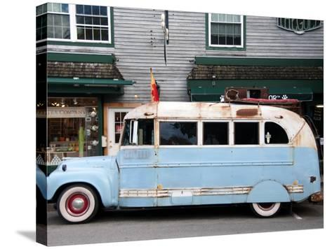 Old Bus Touring the Country Stops in Bar Harbour-Peter Ptschelinzew-Stretched Canvas Print