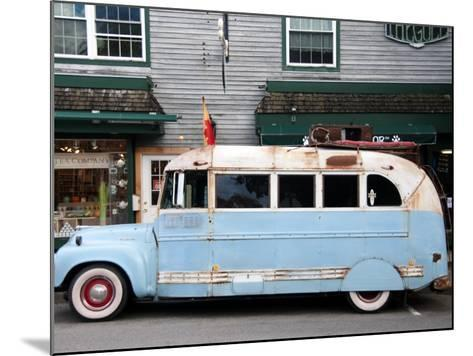 Old Bus Touring the Country Stops in Bar Harbour-Peter Ptschelinzew-Mounted Photographic Print