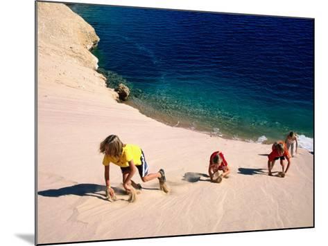 Overhead of Children Climbing Sand Dune-Philip & Karen Smith-Mounted Photographic Print