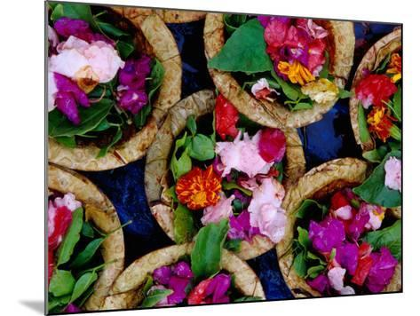 Flower Offerings for Sale on Sita Kund During Khumb Mela-Richard l'Anson-Mounted Photographic Print