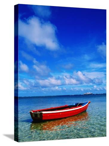 Small Boat at Anchor-Ralph Hopkins-Stretched Canvas Print