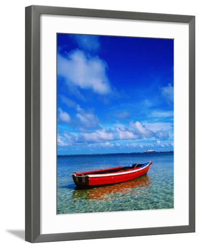 Small Boat at Anchor-Ralph Hopkins-Framed Art Print