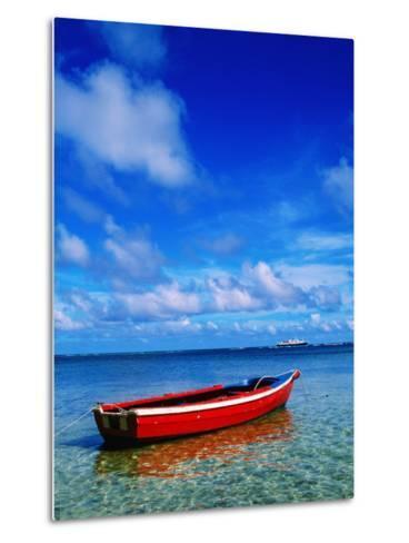 Small Boat at Anchor-Ralph Hopkins-Metal Print