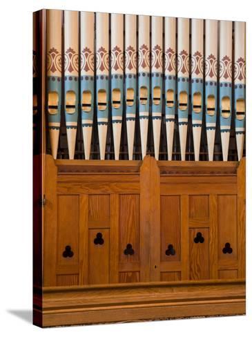 Organ in Christchurch Cathedral-Richard Cummins-Stretched Canvas Print