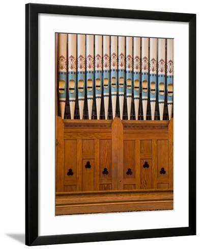Organ in Christchurch Cathedral-Richard Cummins-Framed Art Print