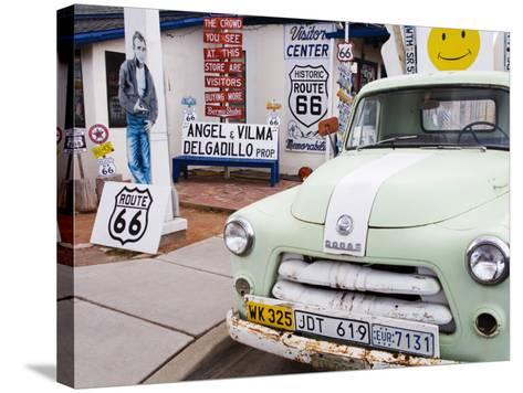 Dodge Truck at Route 66 Museum-Richard Cummins-Stretched Canvas Print