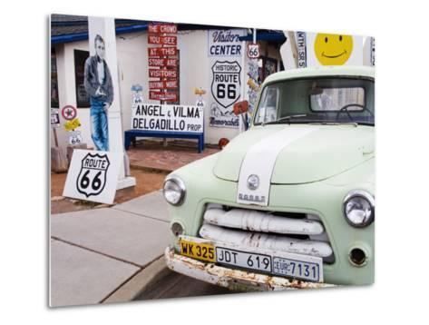 Dodge Truck at Route 66 Museum-Richard Cummins-Metal Print
