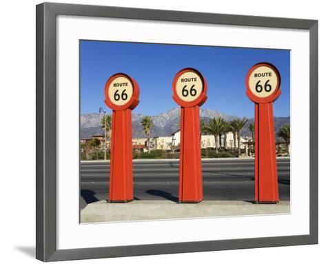 Route 66 Signs-Richard Cummins-Framed Art Print