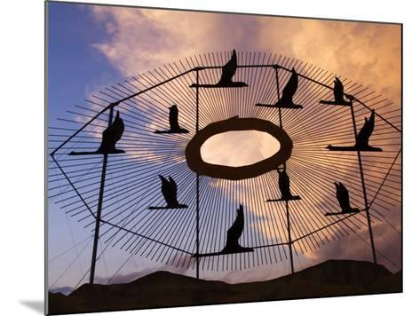 Geese in Flight Sculpture on the Enchanted Highway-Richard Cummins-Mounted Photographic Print