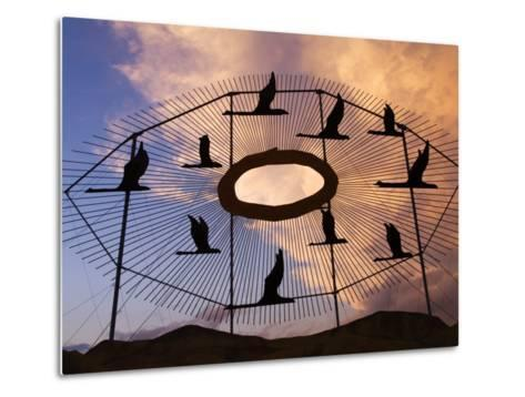 Geese in Flight Sculpture on the Enchanted Highway-Richard Cummins-Metal Print
