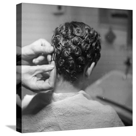 Hairdressing-Chaloner Woods-Stretched Canvas Print