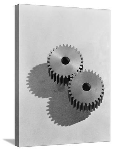 Two Interlocking Gears-H^ Armstrong Roberts-Stretched Canvas Print