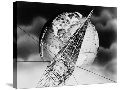 Radio Tower Montage-H^ Armstrong Roberts-Stretched Canvas Print