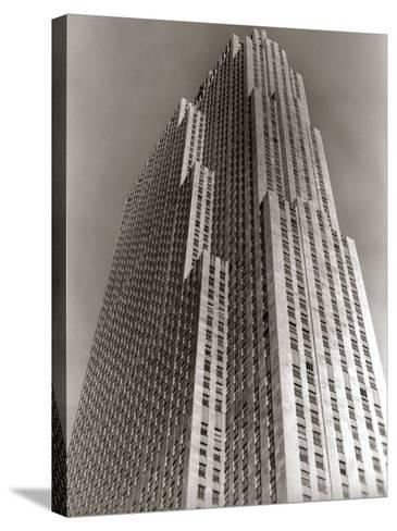 Shot Looking Upward at Rockefeller Center Skyscraper-H^ Armstrong Roberts-Stretched Canvas Print