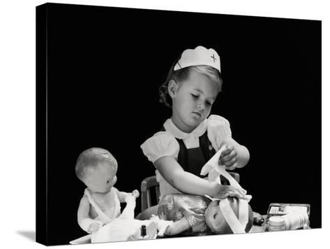 Playing Nurse-H^ Armstrong Roberts-Stretched Canvas Print