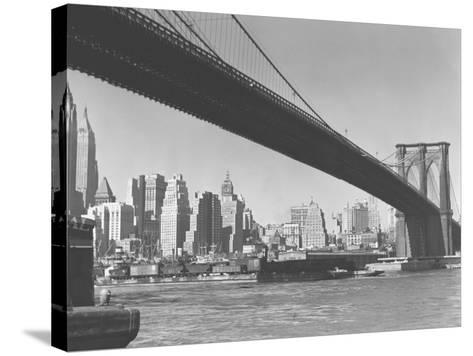 Brooklyn Bridge and Manhattan Skyline, New York City-George Marks-Stretched Canvas Print