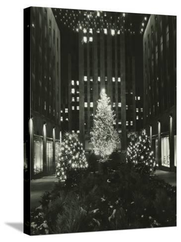 Rockefeller Center Decorated For Christmas, New York City-George Marks-Stretched Canvas Print