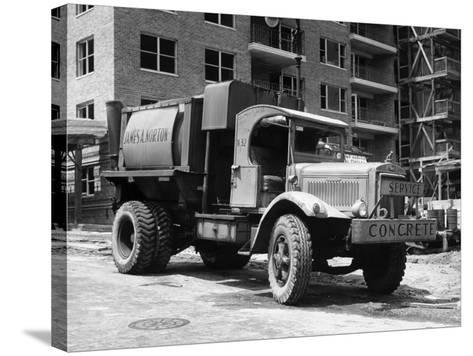 Concrete Truck on Site of Construction-George Marks-Stretched Canvas Print