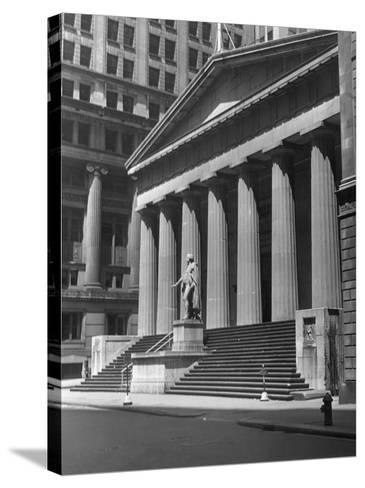 New York, Wall Street, Federal Building-George Marks-Stretched Canvas Print
