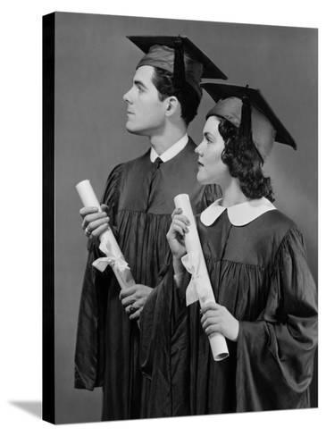 Portrait of High School Graduates-George Marks-Stretched Canvas Print