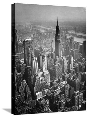 Aerial View of New York City-George Marks-Stretched Canvas Print