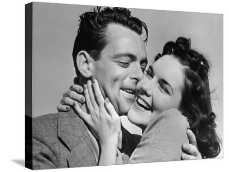 Couple Cheek-To-Cheek-George Marks-Stretched Canvas Print