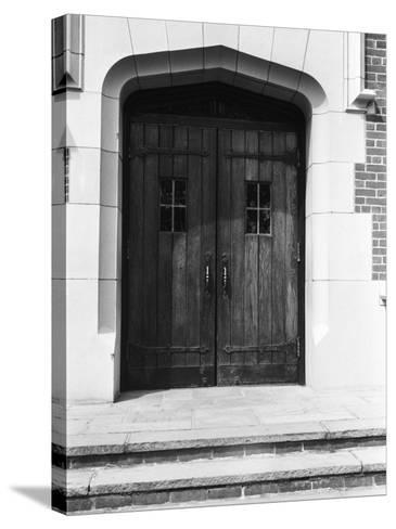 Arched Doorway and Steps-George Marks-Stretched Canvas Print
