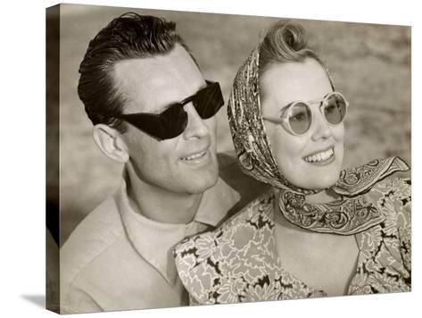 Couple With Sunglasses-George Marks-Stretched Canvas Print