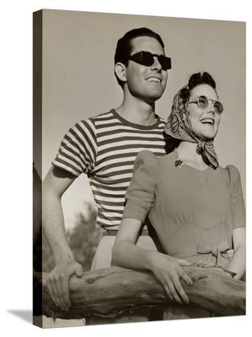 Couple in Sunglasses-George Marks-Stretched Canvas Print
