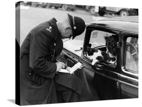 Checking Licences--Stretched Canvas Print