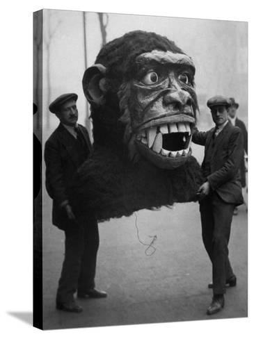Jungle Monster Head--Stretched Canvas Print