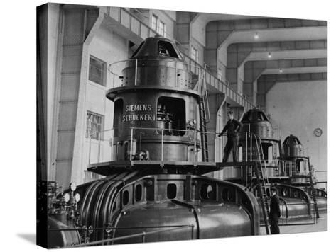Electricity Plant--Stretched Canvas Print