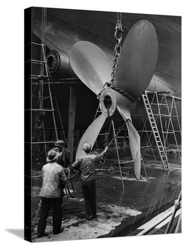 Ship's Propeller--Stretched Canvas Print
