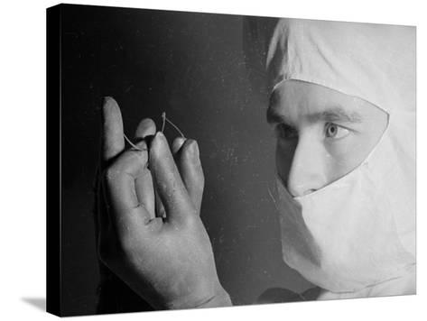 Surgeon's Suture--Stretched Canvas Print