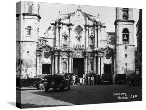Havana Cathedral--Stretched Canvas Print