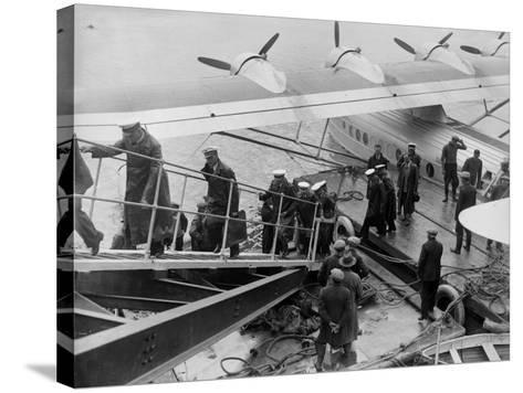 Flying Boat Crew--Stretched Canvas Print