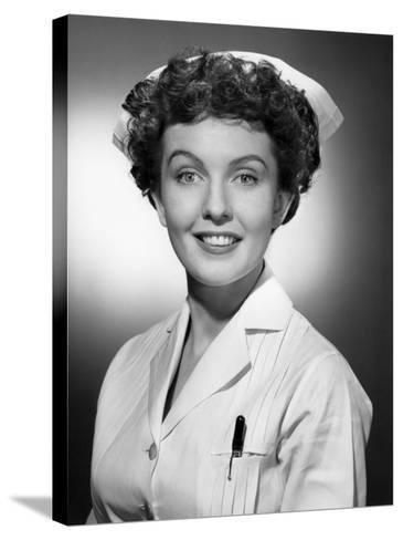 Portrait of Nurse-George Marks-Stretched Canvas Print