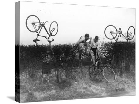 Cross County Cycling--Stretched Canvas Print